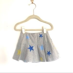 Lands End Yellow Blue Stars Grey Skirt Skort